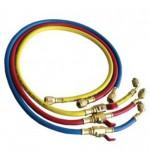 Комплект маркучи за зареждане - 120 см с кран : R407C, R404A, R134a, R22